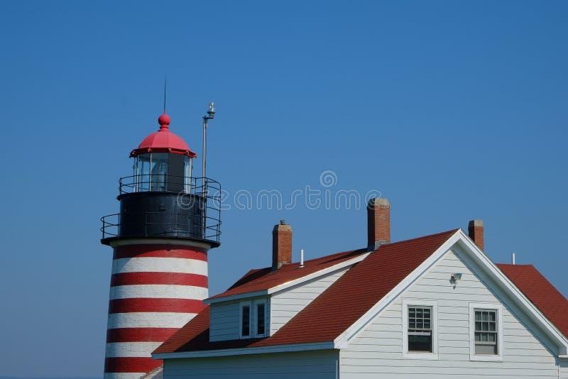 西部Quoddy灯塔和老板处所 免版税库存图片
