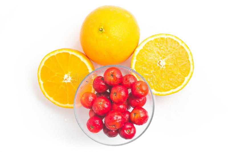 巴西金虎尾樱桃和橙色果子 图库摄影