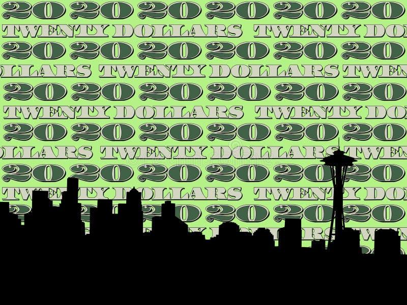 西雅图地平线 皇族释放例证
