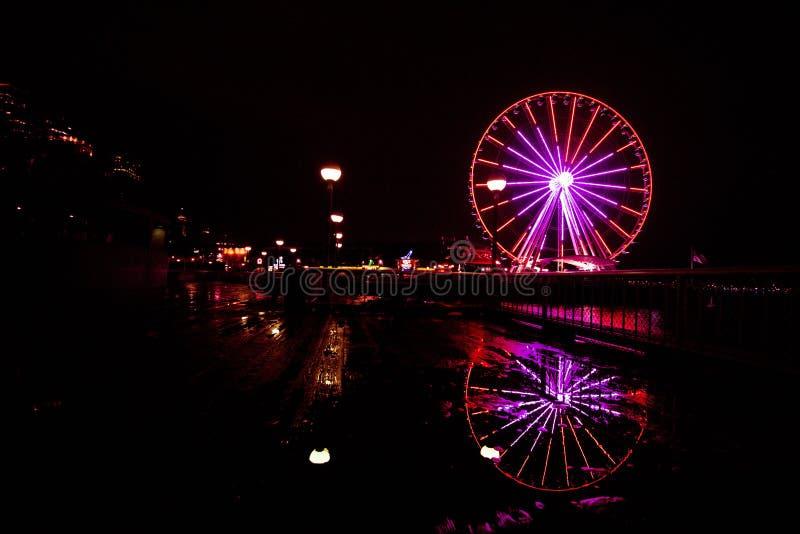 西雅图头轮在情人节 图库摄影
