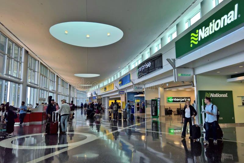 西雅图机场出租车设施 免版税库存图片