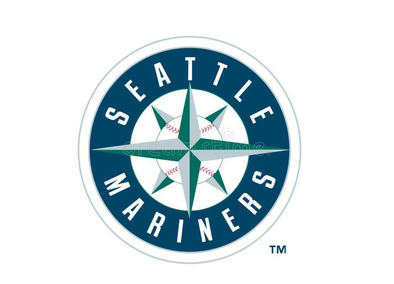 西雅图水手商标 皇族释放例证
