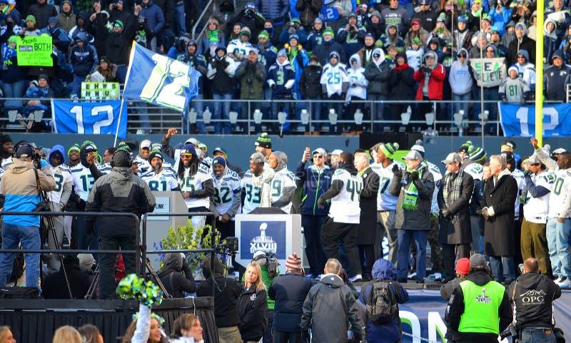 西雅图海鹰庆祝胜利 图库摄影