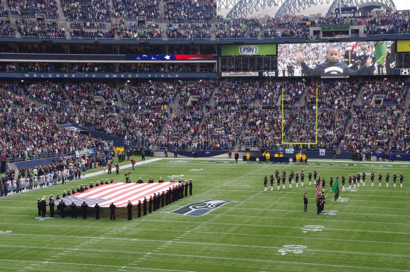 西雅图海鹰比赛 免版税库存图片
