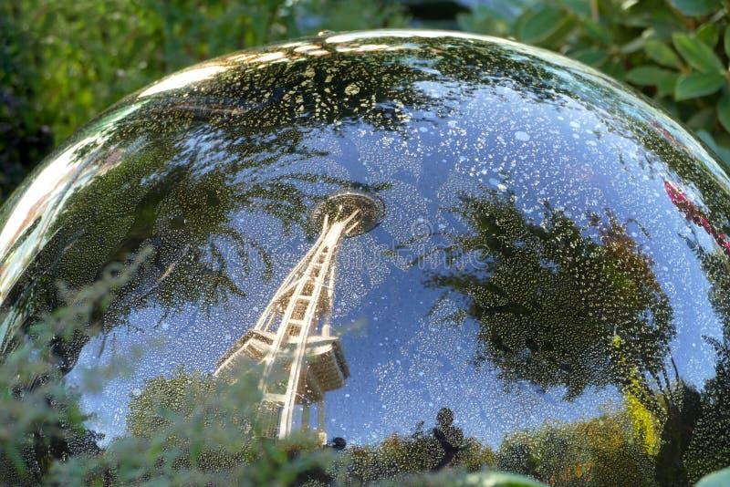 西雅图的反射 免版税图库摄影