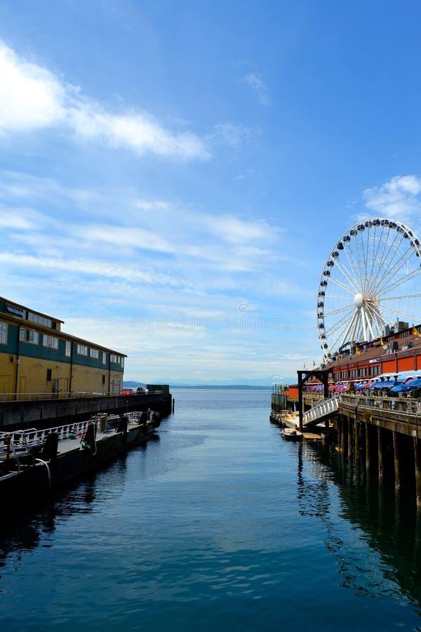 西雅图码头 库存图片