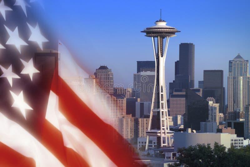 西雅图空间针-美国 库存图片