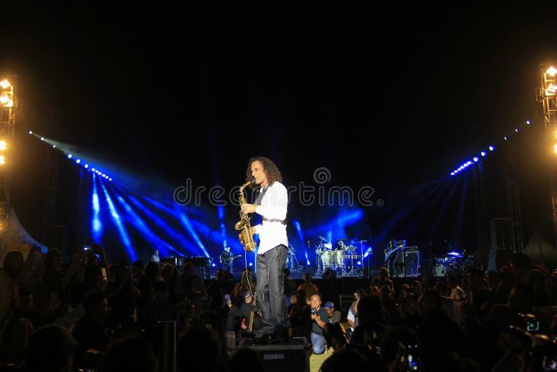西雅图美国肯尼·基的发型音乐家 免版税库存照片