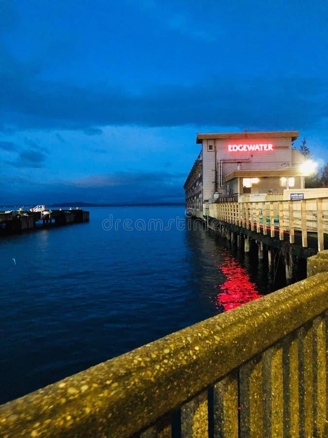 西雅图-码头21 库存照片