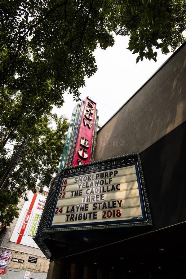西雅图ShowBox剧院 库存照片