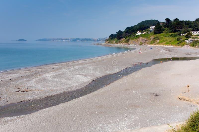 西顿海滩康沃尔郡英国,联合王国 免版税库存照片