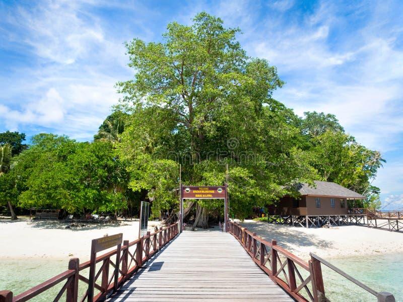 西巴丹岛IsIand,沙巴,马来西亚 库存图片