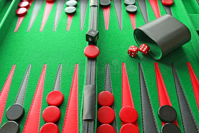 西洋双陆棋板比赛 免版税图库摄影
