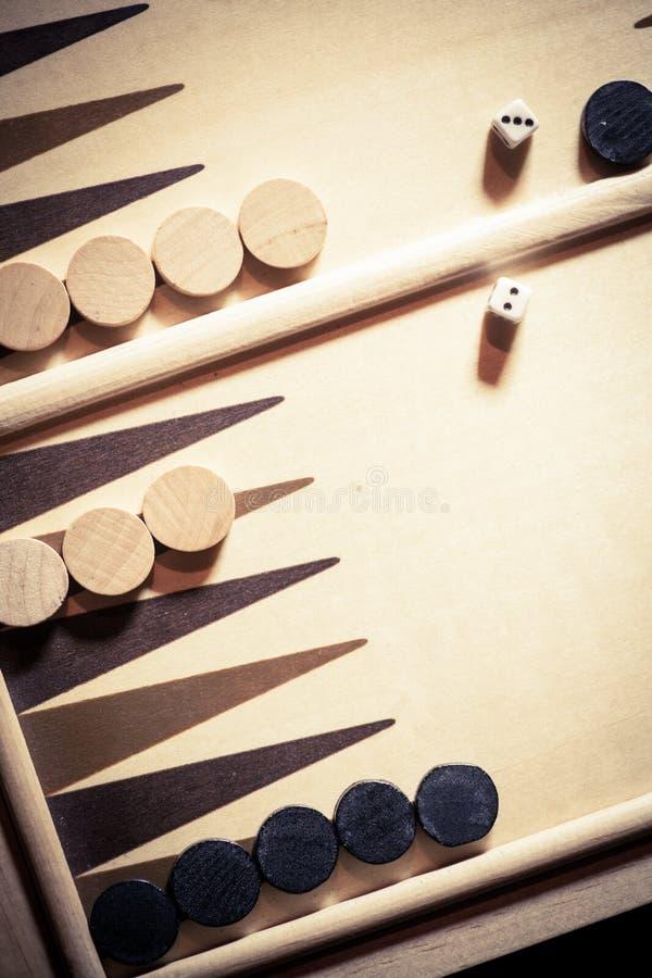 西洋双陆棋板细节 免版税库存照片