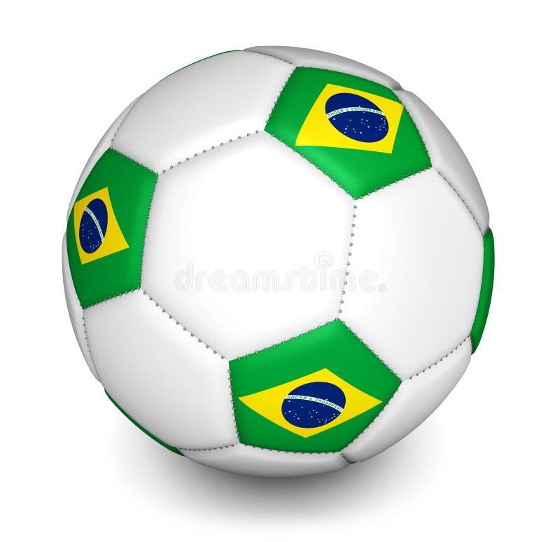 巴西2014年橄榄球世界杯足球赛球 皇族释放例证