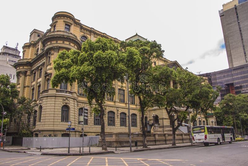 巴西-里约热内卢国立图书馆  免版税库存图片