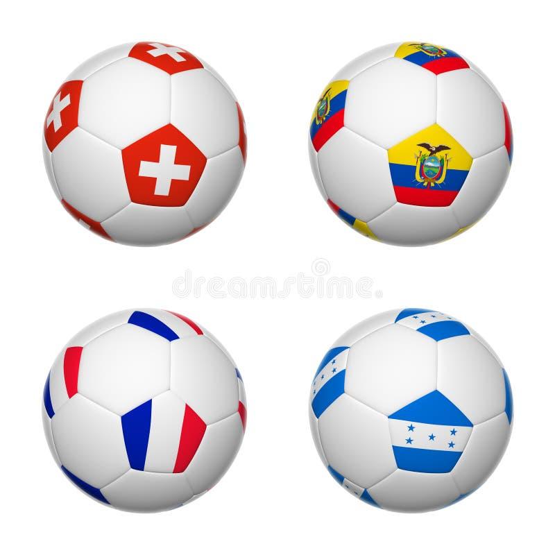 巴西2014年,小组E的足球 库存例证