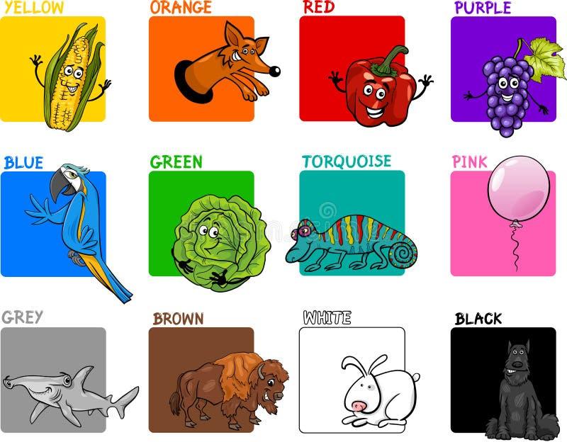 主要上色动画片汇集 库存例证