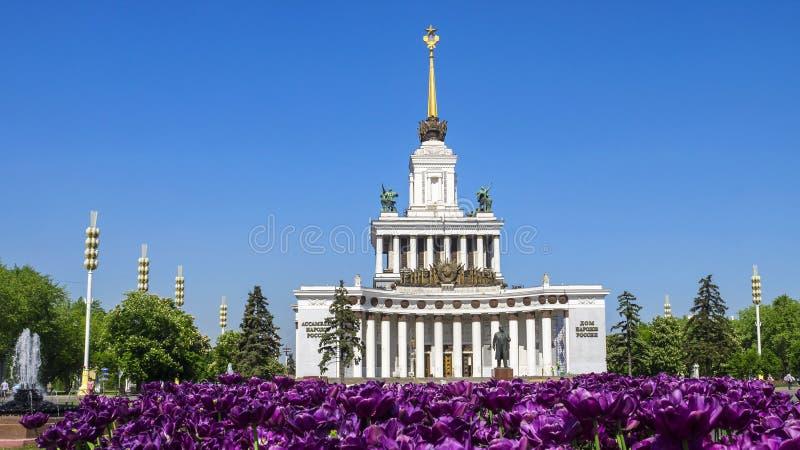 主要亭子VVC陈列莫斯科,俄罗斯 免版税图库摄影