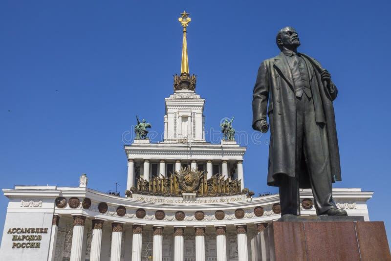 主要亭子VVC陈列莫斯科,俄罗斯 图库摄影