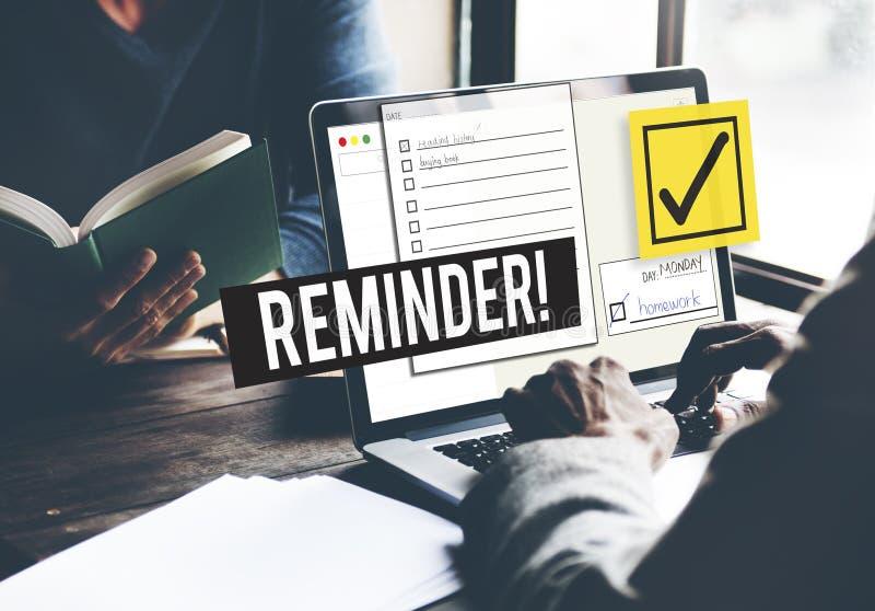要做名单时间安排提示给予概念优先 免版税库存照片