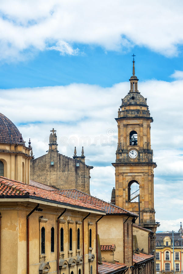 主要大教堂在波哥大,哥伦比亚 免版税库存图片