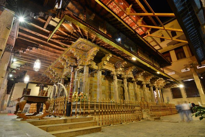 主要寺庙 神圣的牙遗物的寺庙 康提 斯里南卡 免版税库存照片