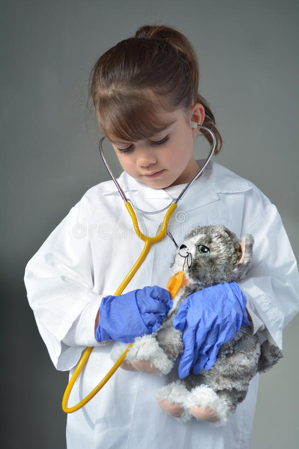 要是兽医的小孩 免版税库存照片