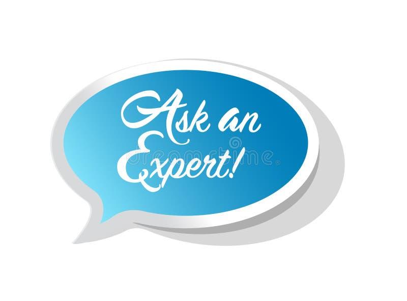 要求一个专家的通信消息概念 向量例证