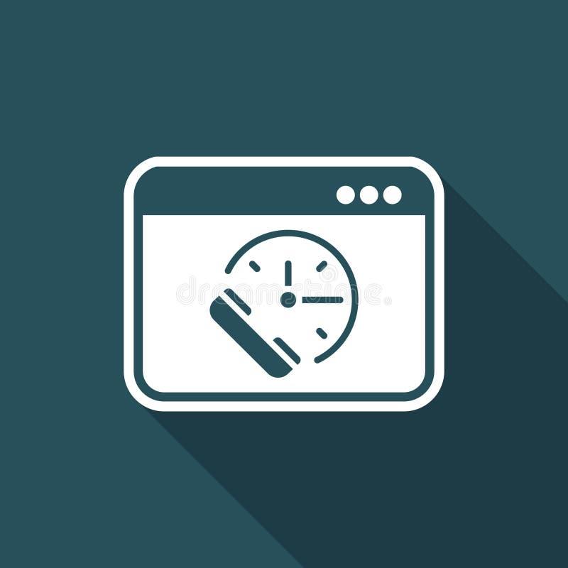 要求任命-联机服务-导航平的象 向量例证