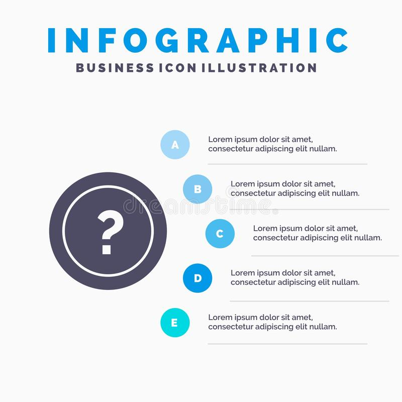 要求,信息,问题,支持坚实象Infographics 5步介绍背景 皇族释放例证