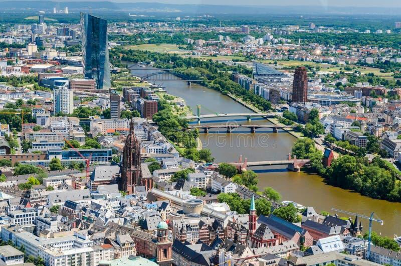 主要河,法兰克福,德国 库存照片
