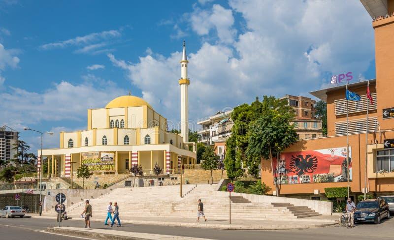 主要清真寺在都拉斯 库存图片