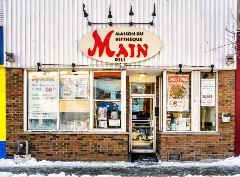 主要熟食店牛排餐厅 库存照片