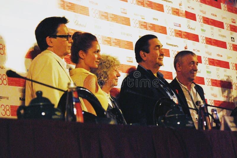 主要竞争陪审团成员,第38莫斯科国际影片竞赛 库存图片