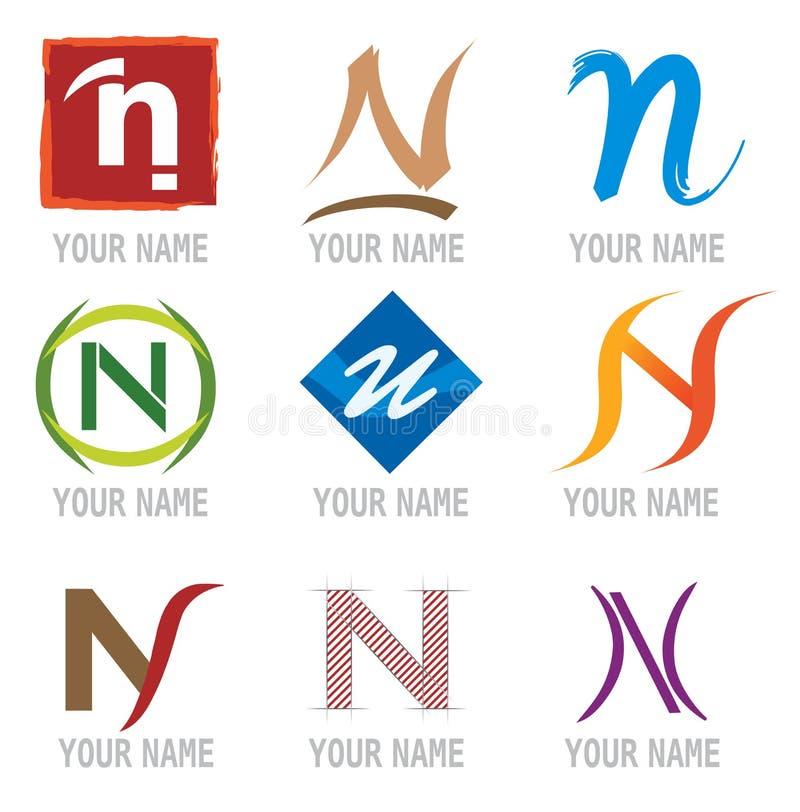 要素图标信函徽标n集 库存例证