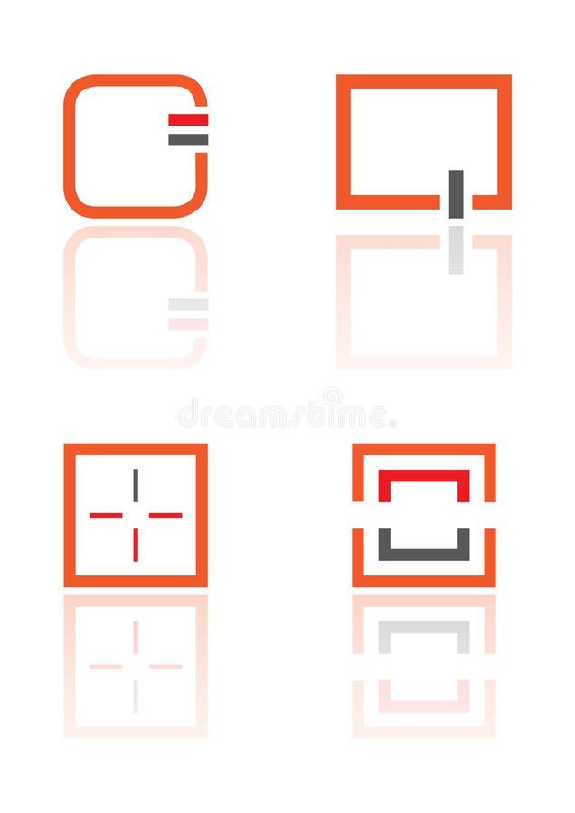 要素徽标正方形向量 库存例证