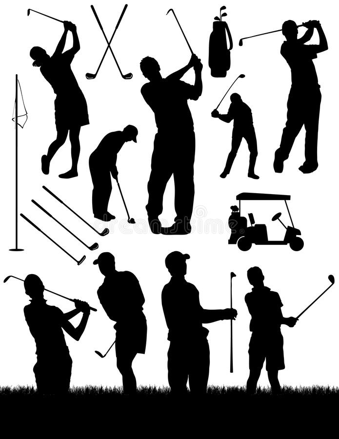 要素打高尔夫球 向量例证