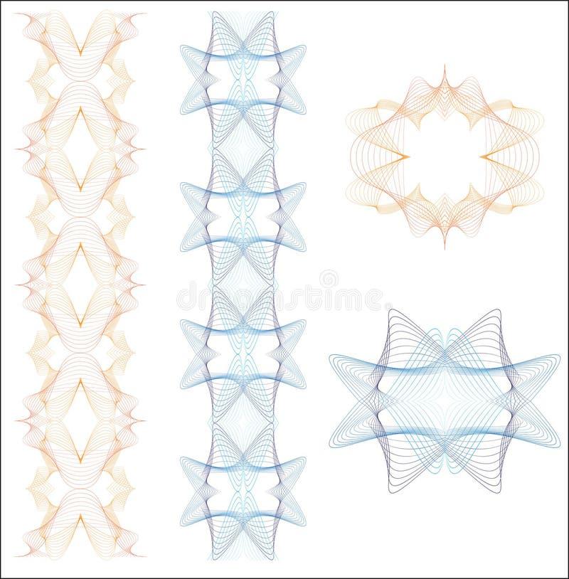 要素扭索状装饰集 库存例证