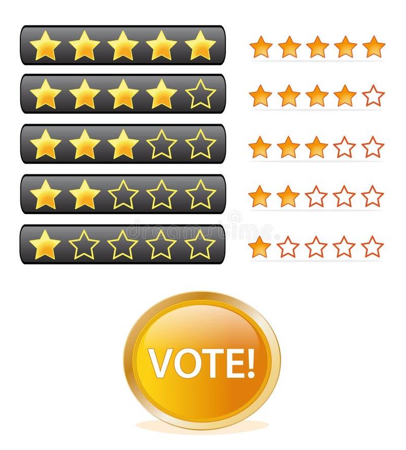 要素投票 向量例证