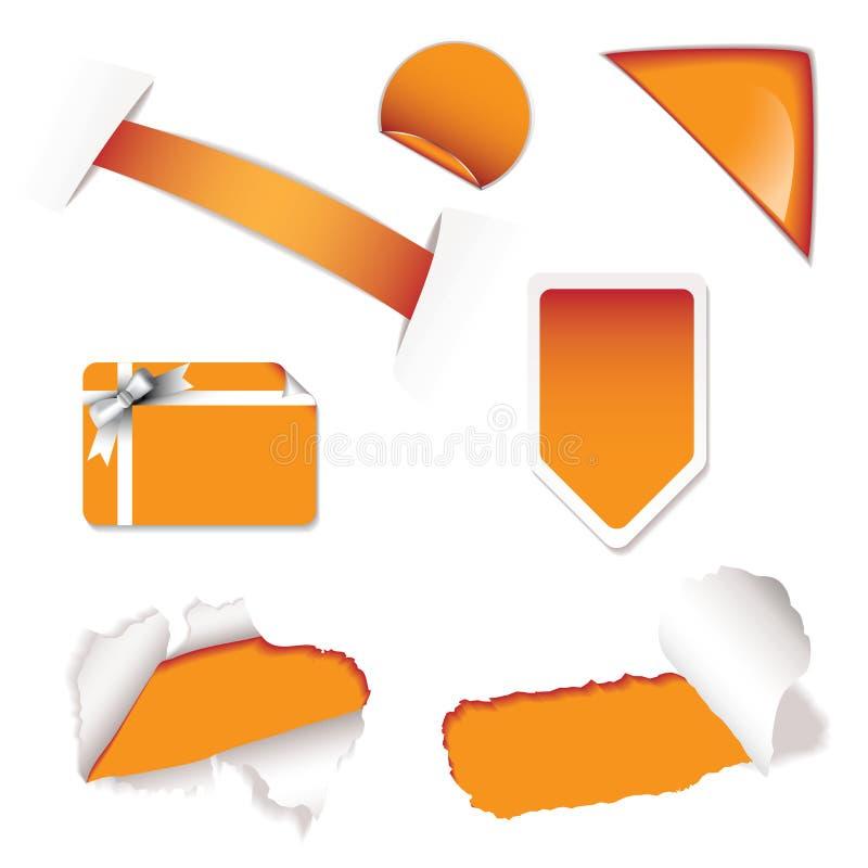 要素橙色销售额界面 皇族释放例证