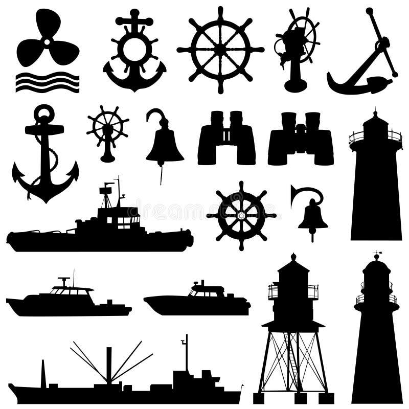 要素船舶向量 皇族释放例证