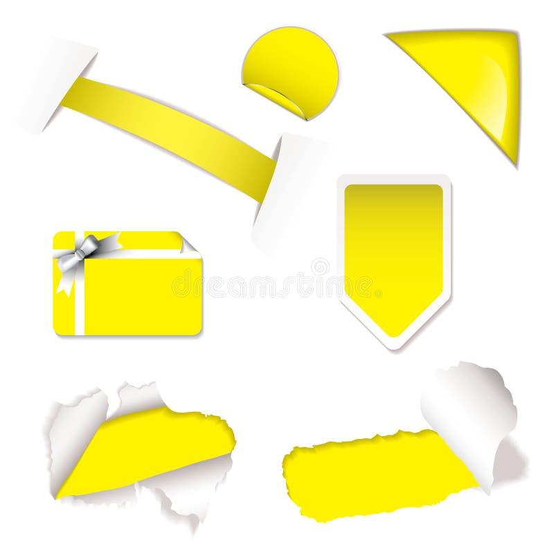 要素销售额界面黄色 向量例证