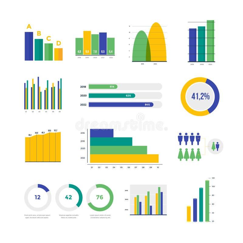 要素infographic向量 套财政和营销图 库存例证