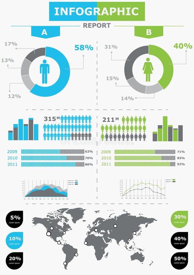 要素infographics通知映射集合世界 皇族释放例证