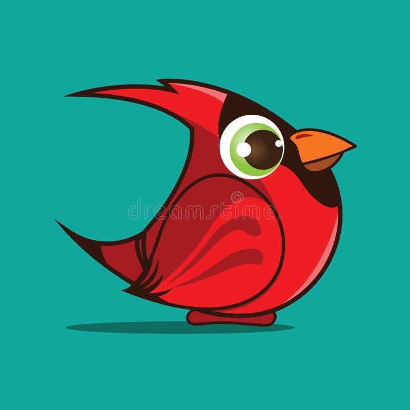 主要鸟动画片 皇族释放例证
