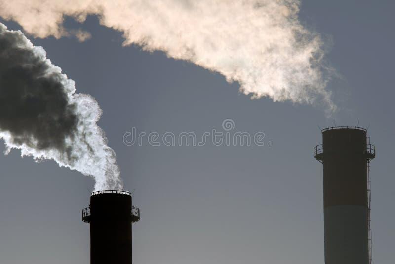 覆盖二氧化碳危险含毒物 库存图片