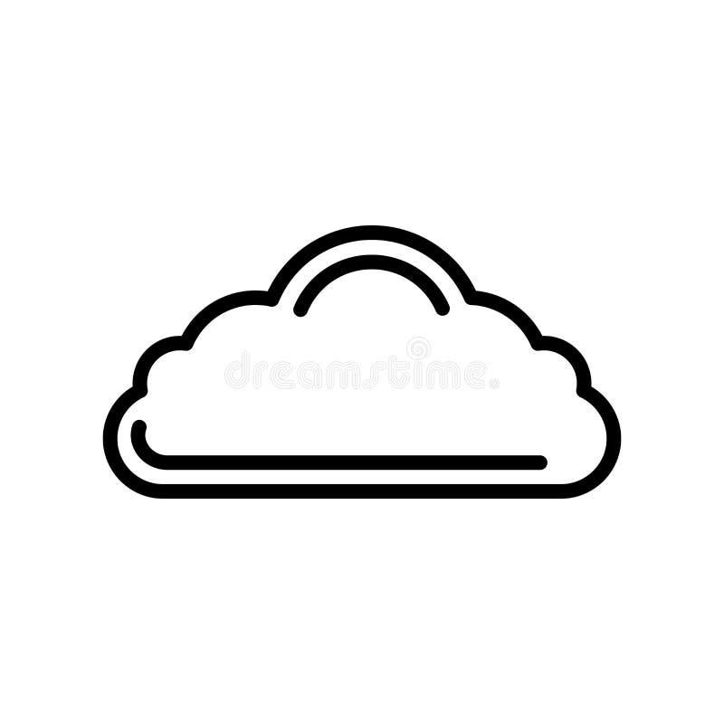 覆盖在白色背景隔绝的象传染媒介,云彩标志,林 皇族释放例证