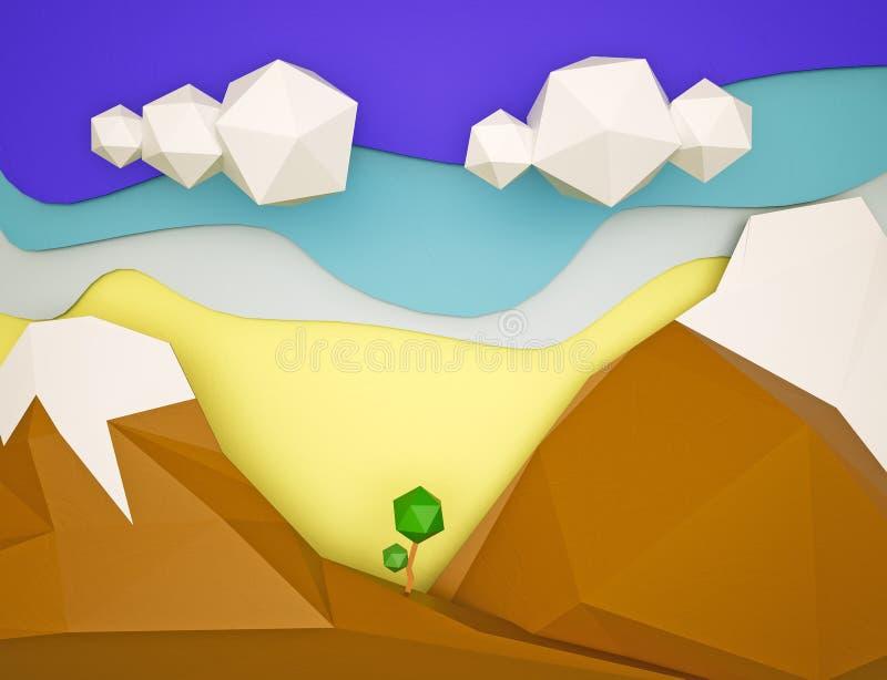 覆盖山 向量例证