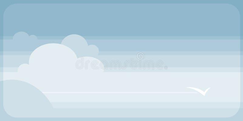 覆盖愉快的平安的天空 免版税图库摄影
